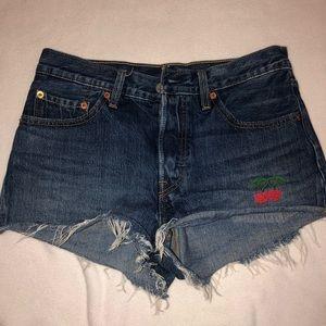 cherry levi shorts